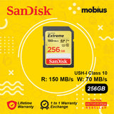Sandisk 256GB Extreme SD UHS-I Class 10 Flash Memory Card