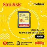 Sandisk 16GB Extreme SD UHS-I Class 10 Flash Memory Card