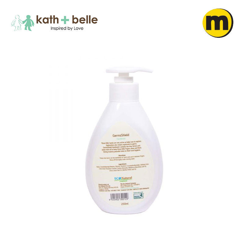 Kath + Belle Germs Free Handwash - Tea Tree, Lemon & Spearmint 250ML