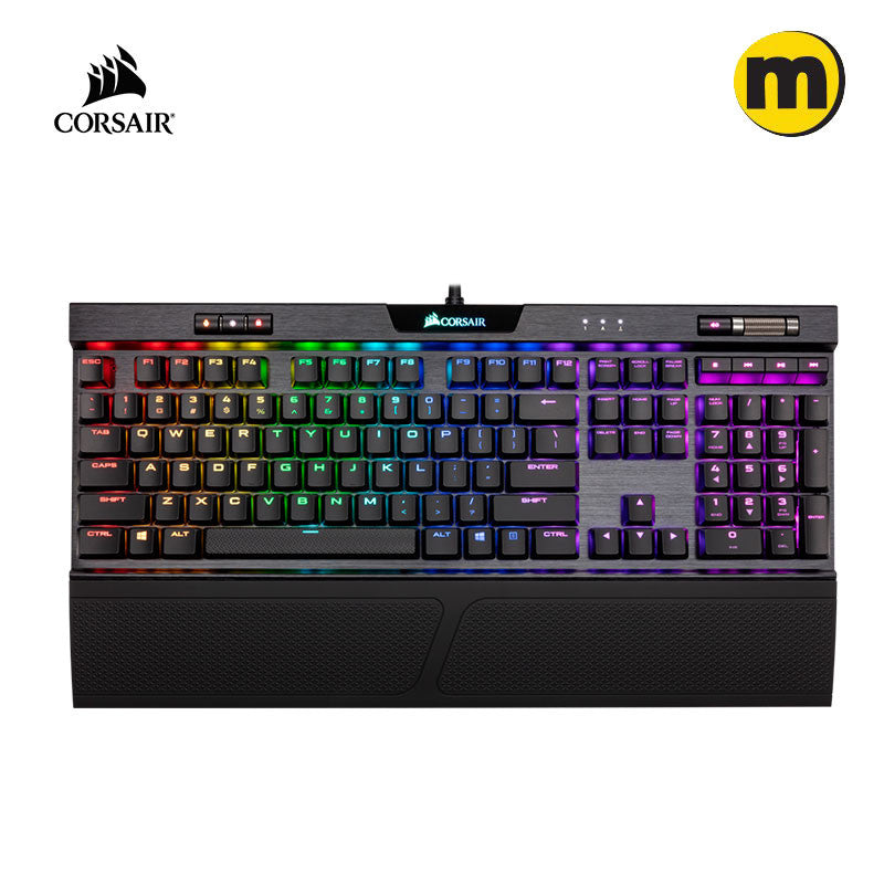 CORSAIR K70 RGB MK.2 Low Profile / RAPIDFIRE Mechanical Gaming Keyboard - CHERRY MX Low Profile Red/Speed