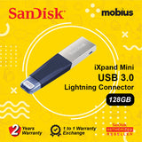 SanDisk IXPAND MINI OTG USB Drive BLUE 128GB
