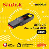 SanDisk Cruzer Spark CZ61 64GB USB 2.0 Flash Drive