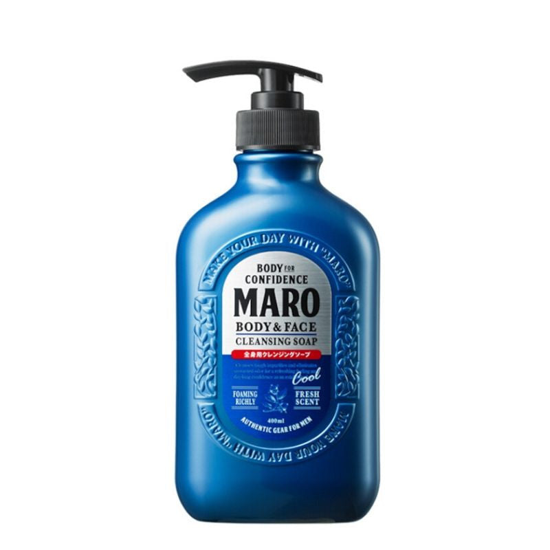 MARO Body & Face Cleansing Cool Soap 终极! 酷凉全效沐浴乳 400ml (Blue 491231)