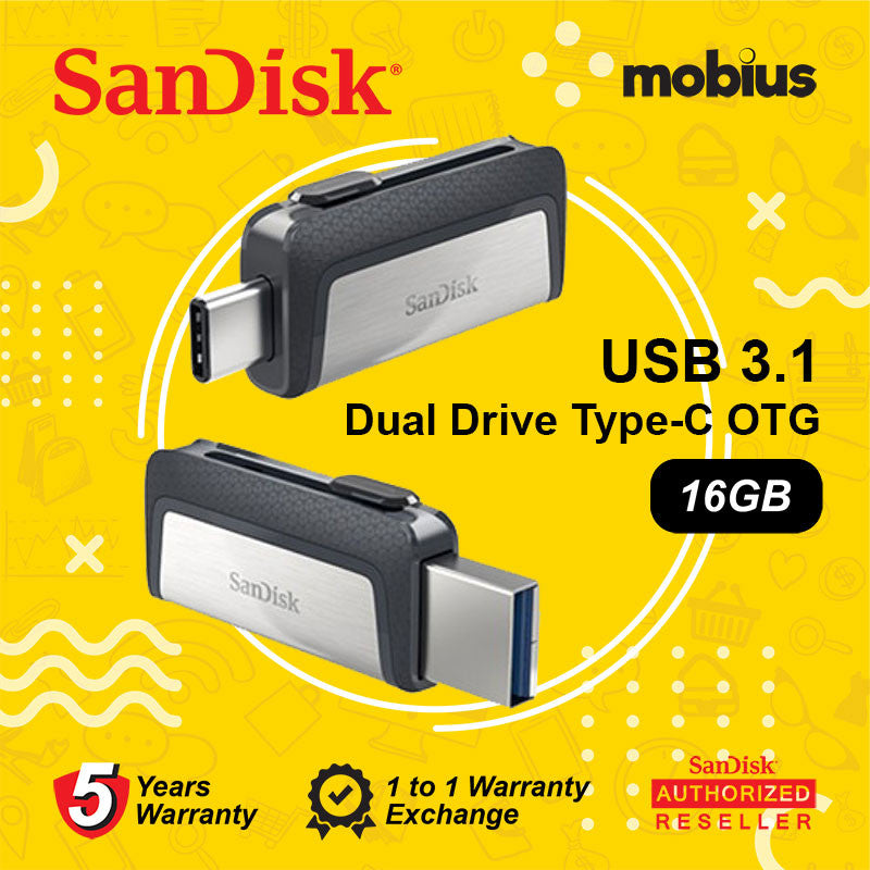 Sandisk 16GB Ultra Dual Drive Type-C USB 3.1 On-The-Go (OTG) Flash Drive