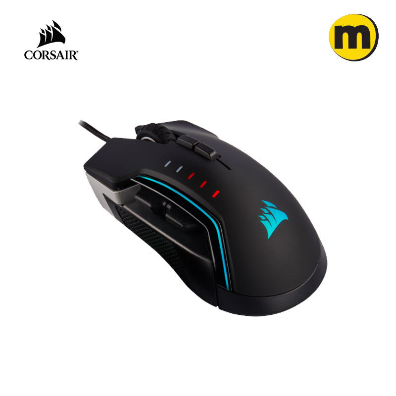 CORSAIR GLAIVE RGB Pro FPS/MOBA Gaming Mouse - Black/Aluminium