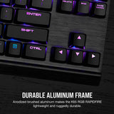 CORSAIR K65 RGB RAPIDFIRE Compact Mechanical Gaming Keyboard - CHERRY MX Speed RGB