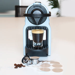 Capsule For Nespresso Refillable Inox 2 In 1 Usage For Nespresso Crema Espresso Reusable & Disposable with stickers-home-betahavit-betahavit
