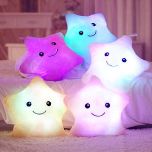 1 Piece 40*35cm Stuffed Dolls Soft Lighting Pillow Star Heart Light Colorful Pillows Cushion Office Popular Plush Toys-toys-betahavit-betahavit