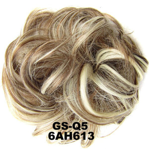 1 Pieces Synthetic Messy Chignon Donut Gary Brown Color 30g Hair Bun Pad Elastic Hair Rope Rubber Band Hair Extensions-hair-betahavit-6AH613-betahavit