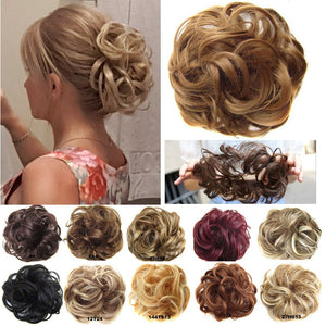 1 Pieces Synthetic Messy Chignon Donut Gary Brown Color 30g Hair Bun Pad Elastic Hair Rope Rubber Band Hair Extensions-hair-betahavit-betahavit
