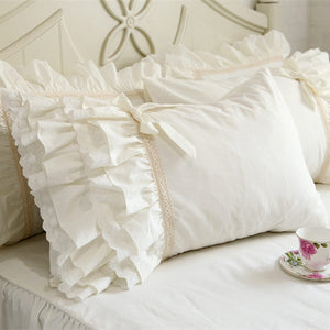 1 pair Pillow European Style Embroidery Lace Pillowcase Luxury Cake Layers Pillowcases Princess Bow Sweet Pillow Cover-home-betahavit-500*700mm-betahavit