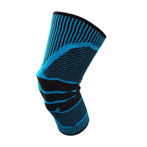 1 pcs Safety Knee Protector Brace Silicone Spring Knee Pad Basketball Ski Knitted Compression Elastic Knee Sleeve Support Sports-outdoor-betahavit-Style one blue-M-betahavit