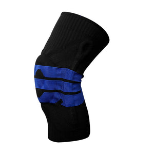 1 pcs Safety Knee Protector Brace Silicone Spring Knee Pad Basketball Ski Knitted Compression Elastic Knee Sleeve Support Sports-outdoor-betahavit-betahavit