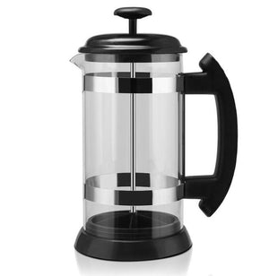 1000ML Glass French Press Pot Filter Cafetiere Tea Coffee Maker Manual French Presses Pot Coffee Maker Coffee Tool-home-betahavit-Silver-betahavit