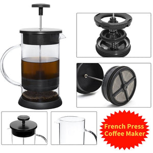 1000ML Stainless Steel Coffee Pot Cafetiere French Press With Filter Double Wall Insulation Design Polish Process Pot Cup-home-betahavit-betahavit