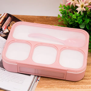 1000ml Partition Leak-Proof Lunch Box Microwave Bento Box BPA Free Food Container Adults Lady Kid Lunchbox-home-betahavit-4 Partition Pink-betahavit