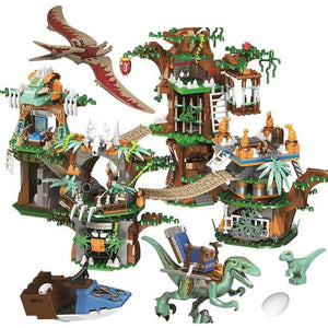 1000pcs Creative Dinosaur Series Tree House Model Building Blocks Jurassic World Park Figures Bricks Toys For Boys Gifts-toys-betahavit-Without original box-betahavit