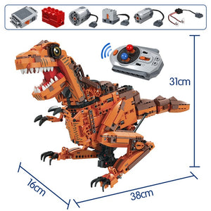 1092PCS City Creative Electric Tyrannosaurus Building Blocks Technic RC Jurassic World Dinosaur Bricks Toys For Children-toys-betahavit-Without original box-betahavit
