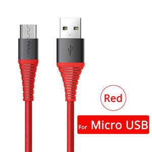 10PCS Hi-Tensile USB Cable For Micro USB 3A Fast Charger-electronic-betahavit-Red For Micro USB-1.2m-betahavit