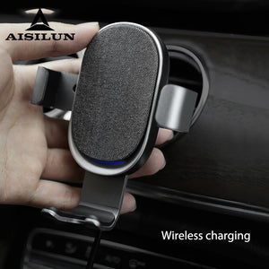 10W Qi Car Wireless Charger For iPhone 11 Samsung S20 Xiaomi Mi Induction Fast Wireless Charging with Car Phone Holder-electronic-betahavit-Gray-betahavit