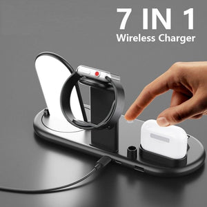 10w Wireless Charger For iPhone 11Pro XR XS MAX Fast Wireless Full load 7 in 1 Charging Pad For Apple Watch 5 4 3 For Airpods-electronic-betahavit-betahavit