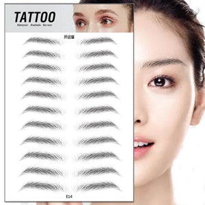 11 pairs 4D Hair Like Authentic Eyebrows 7 Days Long Lasting Waterproof False Eyebrow Sticker Makeup Eyes Tattoo Stickers-beauty-betahavit-E14-betahavit
