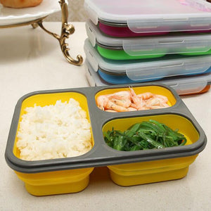 1100ml Silicone Collapsible Portable Lunch Box Large Capacity Bowl Lunch Bento Box Folding Lunchbox Eco-Friendly-home-betahavit-Orange-betahavit