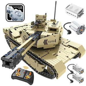 1276 PCS 2.4G RC Tank M1A2 Model Building Blocks Technic Military Remote Control 50M Distance Tank Bricks Toys for Boys-toys-betahavit-Without original box-betahavit