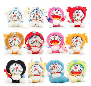 "12pcs/lot 7"" Twelve Constellation Doraemon Kawaii Doll Stuffed Animal Baby Toy Wedding Gift Kids Toys-toys-betahavit-betahavit"