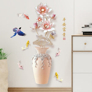 13 Kinds Chinese Style Vase Wall Stickers Fashion Flower Home Decor for Living Room Bedroom Creative PVC Vinyl Room Decoration-home-betahavit-No.2-betahavit
