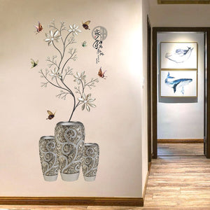 13 Kinds Chinese Style Vase Wall Stickers Fashion Flower Home Decor for Living Room Bedroom Creative PVC Vinyl Room Decoration-home-betahavit-No.3-betahavit