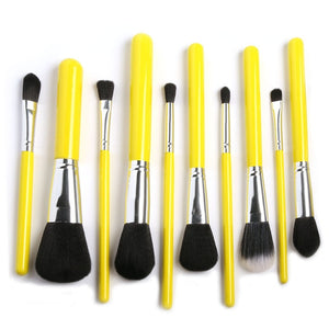 15Ppcs Makeup Brushes Set Powder Foundation Eyeshadow Eyeliner Lip Brush Tool-beauty-betahavit-Yellow and Silver-betahavit