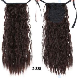 "18""22""Kinky Straight Synthetic Ponytail Extensions Clip-in Pony Tail Natural Hair Extension Heat Resistant Hair Pieces-hair-betahavit-2-33-22inches-betahavit"