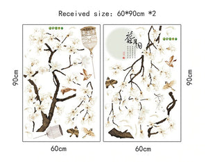 187*128cm Big Size Tree Wall Stickers Birds Flower Home Decor Wallpapers for Living Room Bedroom DIY Vinyl Rooms Decoration-home-betahavit-betahavit