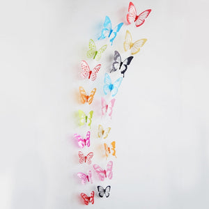 18pcs/lot 3d Effect Crystal Butterflies Wall Sticker Beautiful Butterfly for Kids Room Wall Decals Home Decoration On the Wall-home-betahavit-102-betahavit