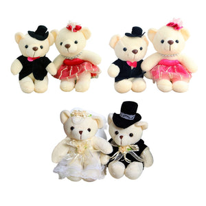1pair 15cm Hot Selling Item Couple Bears Wedding Bears Wedding Gifts Soft Doll kawaii Toy Brinquedos For Kid-toys-betahavit-betahavit