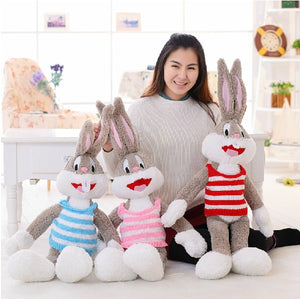 1pc 100cm Cartoon Selling Item Plush Bugs Bunny Stuffed Animal Kawaii Doll For Kids Soft Pillow For Girls Funning Toy-toys-betahavit-Red-betahavit