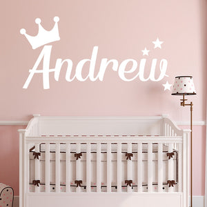 1pcs CustomWall Stickers Personalized Name Stickers for Baby Girl Boy Nursery Wall Decals Decorative Stickers Children Room Art-home-betahavit-betahavit