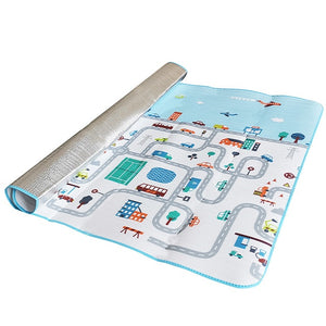200*180CM Baby Play Mat Road Kid Rug Blanket Developing Mat Soft Floor Children Waterproof Pad Gym Activity Crawling Carpet-home textile-betahavit-China-road-200cmx180cmx0.5cm-betahavit