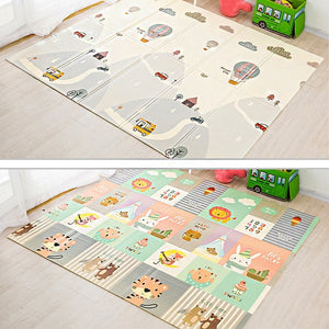 200*180cm Foldable Cartoon Baby Play Mat Xpe Puzzle Children's Mat Baby Climbing Pad Kids Rug Baby Games Mats Toys For Children-home textile-betahavit-China-F-betahavit