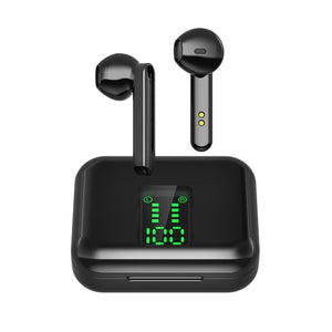 Men TWS Bluetooth Earphones Wireless Headphones LED Display Bluetooth 5.0 Sport Headset Earbuds with Earphones Case-electronic-betahavit-Black-betahavit