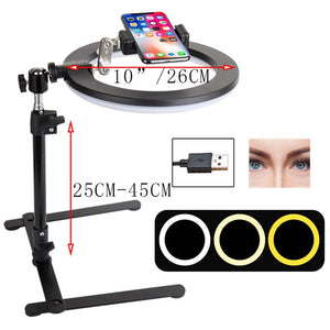 26CM Photography Lighting Phone Ringlight Tripod Stand Photo Led Selfie Bluetooth Fill Ring Light Lamp Video Youtube Live COOK-electronic-betahavit-White-betahavit