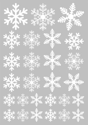 27 pcs/lot snowflake electrostatic Stickers Glass Window Kids room Christmas Wall Stickers Home Decals Decoration New Year-home-betahavit-White-betahavit