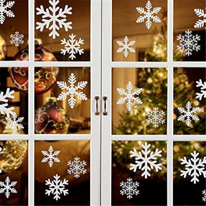 27 pcs/lot snowflake electrostatic Stickers Glass Window Kids room Christmas Wall Stickers Home Decals Decoration New Year-home-betahavit-betahavit