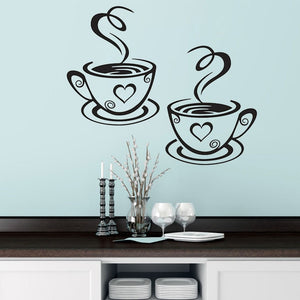 28 styles Coffee Wall Stickers for Kitchen Decorative Stickers Vinyl Wall Decals DIY Stickers Home Decor Dining Room Shop Bar-home-betahavit-betahavit