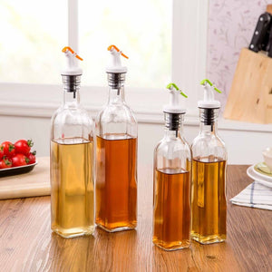 2PCS Sauce Dispenser Seasoning Bottle 500ml Glass Vinegar Bar Oil Bottle Storage Kitchen Tools Cooking Wine Liquid Container-home-betahavit-betahavit