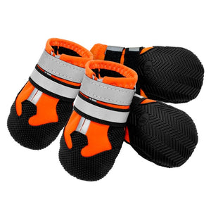 4pcs Dog Shoes for Large Dogs Waterproof Pet Snow Boot Reflective Winter Dogs Shoes Socks Pet Footwear Non-Slip for Pitbull-home-betahavit-Orange-2XL-betahavit