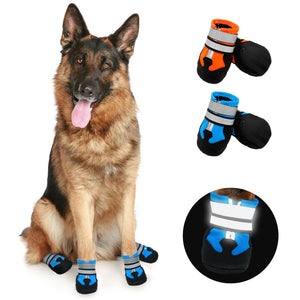 4pcs Dog Shoes for Large Dogs Waterproof Pet Snow Boot Reflective Winter Dogs Shoes Socks Pet Footwear Non-Slip for Pitbull-home-betahavit-betahavit