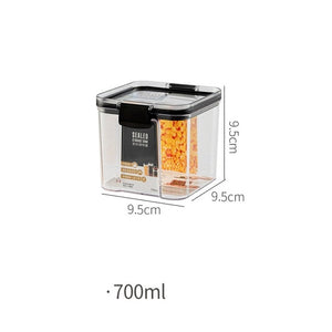 700/1300/1800ML Food Storage Container Plastic Kitchen Refrigerator Noodle Box Multigrain Storage Tank Transparent Sealed Cans-home-betahavit-700ml-China-betahavit