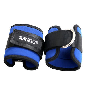 Body Building Resistance Band D-ring Ankle Straps Home Workout Exercise Ankle Cuffs Leg Power Training-outdoor-betahavit-Blue-betahavit